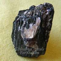 Black Schorl Tourmaline With Mica Inclusions