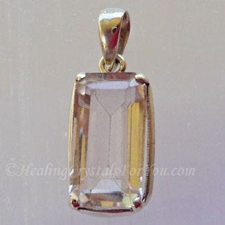 White Topaz Gemstone Pendant