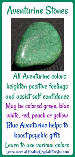 Aventurine Stones May Increase Optimism & Self Confidence
