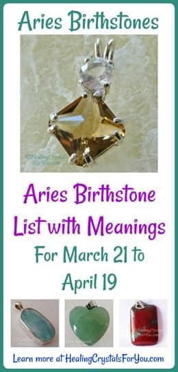 Aries Birthstones