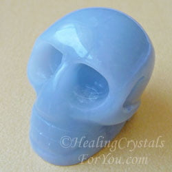 Angelite Crystal Skull