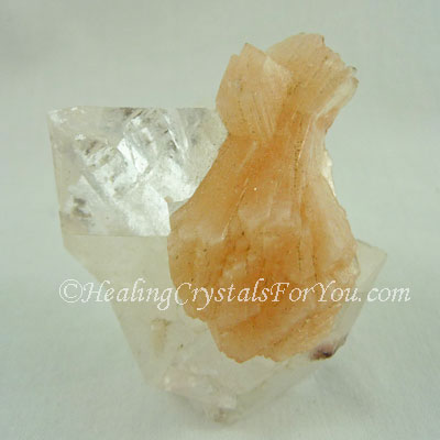 Clear Apophyllite with Peach Stilbite