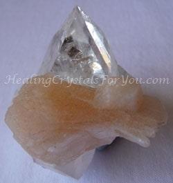 Clear Apophyllite with Orange Stilbite