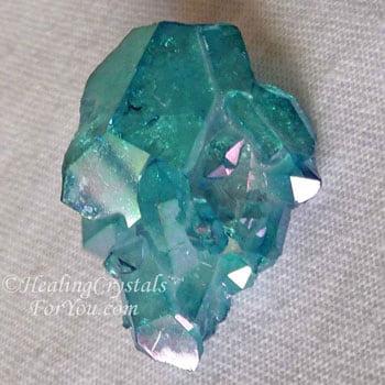 Details about  /Aura Quartz Blue Crystal Point Healing Crystal Reiki Point Chakra Crystal