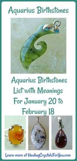 Aquarius Birthstone List Birthstones & Meanings 20th Jan to