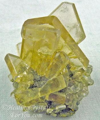 Golden Baryte Cluster