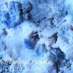 Blue Benitoite in White Natrolite