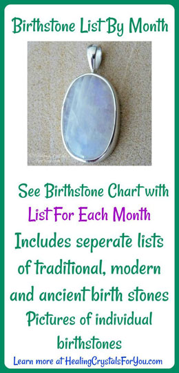 Birthday Gemstones List  Birthstone List Easy Chart Ancient