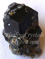 Black Andradite Garnet aka Melanite Garnet