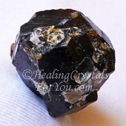 Melanite Garnet aka Black Andradite Garnet