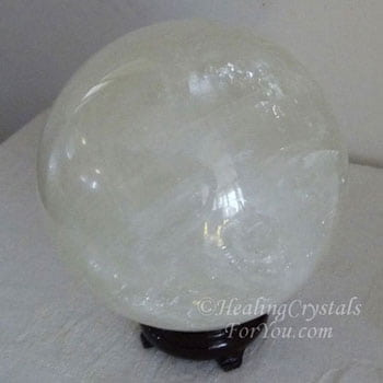 White Calcite Crystal Ball