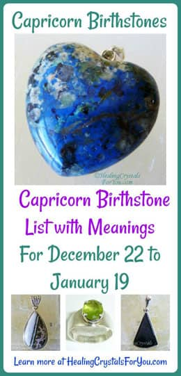 Capricorn Birthstone List of Birthstones & Meanings 22nd Dec
