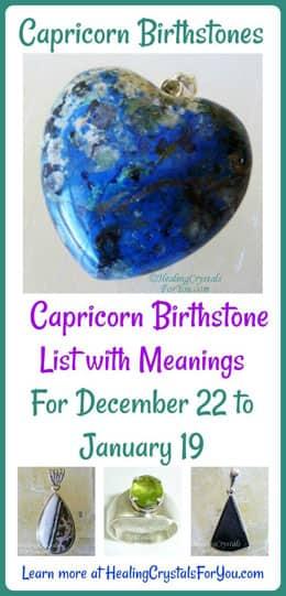 Capricorn Birthstones