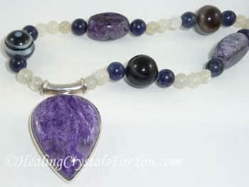 Charoite Pendant with Charoite beads