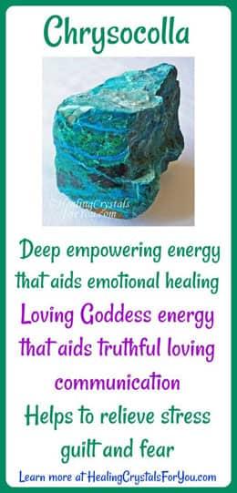 Chrysocolla Aids Heartfelt Communication Goddess Energy