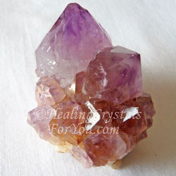 Yellow & Purple Color Mix Spirit Quartz