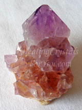 Bi-Colored Spirit Quartz