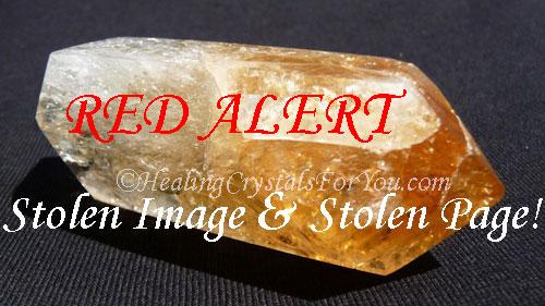 Yellow Citrine Crystal