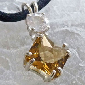 John Of God Citrine Pendant