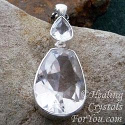 Clear Quartz Crystal Pendant