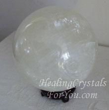 White Calcite Crystal Ball