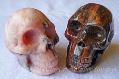 Petalite & Bustamite Crystal Skulls