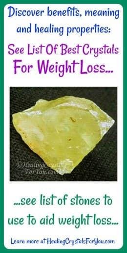 Cristaux pour perdre du poids