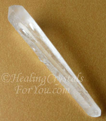 Clear Quartz Double Terminated Laser Wand