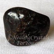 Dravite tumbled stone