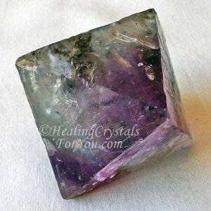 Fluorite Natural Octohedron