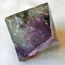 Fluorite Natural Octohedron