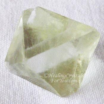 Green Fluorite Octohedron
