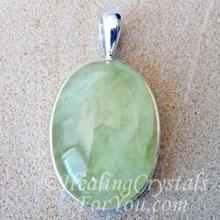 Green Prehnite Pendant