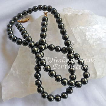Magnetic Hematite Bead Necklace
