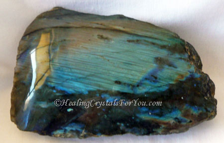 Blue Flash Labradorite Crystal