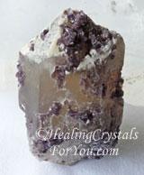 Lilac Lepidolite in/on quartz