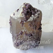 Lepidolite in Quartz