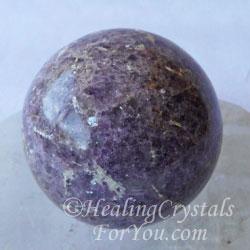 Lilac Lepidolite crystal ball