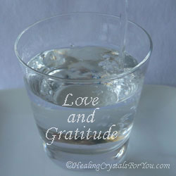 Love and Gratitude on water