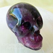 Magenta Fluorite Skull