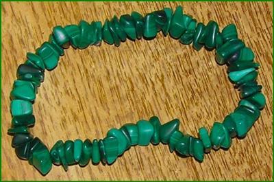 Green Malachite Chip Bracelet