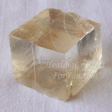 Peach Optical Calcite