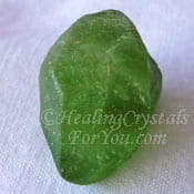 Natural Peridot Point