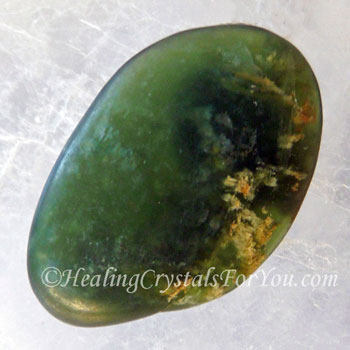PounamuGreenstone and Pure Silver  Leaf in Trapezoid Resin