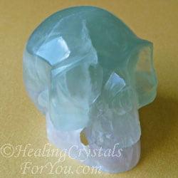 Rainbow Fluorite Crystal Skull
