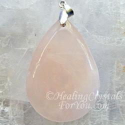 Rose Quartz Crystal Pendant