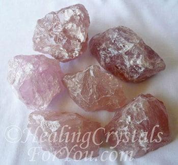 Cristal de quartz rose