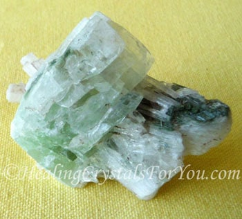 Scolecite with Green Apophyllite
