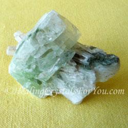 Scolecite with Green Apophyllite