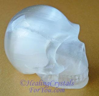 Selenite Crystal Skull